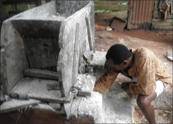 Hand injuries from cassava milling machine in sub-urban